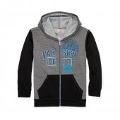 Hanes Boys Graphic Fleece Colorblock Full Zip Hoodie