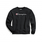 Champion Mens Powerblend Crew, Script Logo