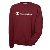 Champion Mens Powerblend Fleece Crew, Script Logo