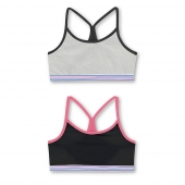 Hanes Girls ComfortFlex Fit Pullover Bra with Thin Racerback Straps 2-Pack
