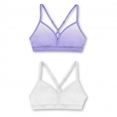 Hanes Girls ComfortFlex Fit Pullover Bra with Adjustable Racerback Straps 2-Pack