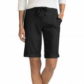 Hanes Womens French Terry Bermuda Pocket Short