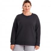 Just My Size ComfortSoft EcoSmart V-Notch Crewneck Womens Sweatshirt