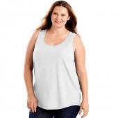 Just My Size Cotton Jersey Shirttail Womens Tank Top