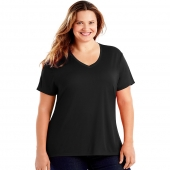 Just My Size Cool DRI Short-Sleeve Womens V-Neck Tee