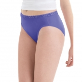 Hanes Womens Nylon Hi-Cut Panties 6-Pack