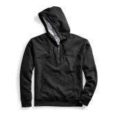 Champion Mens Powerblend Fleece Quarter Zip Hoodie, Embroidered Logo