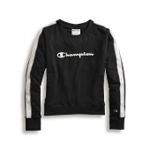 Champion Womens Heritage Fleece Crew, Satin Stitch Logo