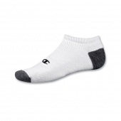 Champion Double Dry Performance Men's White No-Show Socks 6-Pack