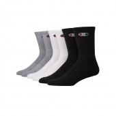 Champion Men's Logo Crew Socks, 6-Pack