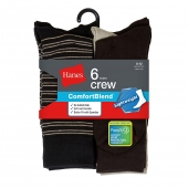 Hanes Men's Comfortblend Lightweight Casual Dress Socks P6