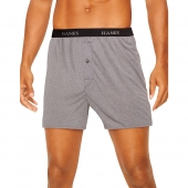 Hanes Classics Men's TAGLESS ComfortSoft Knit Boxers with Comfort Flex Waistband 5-Pack
