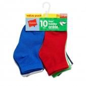 Hanes Boys Infant/Toddler Ankle 10-Pack