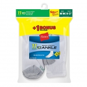 Hanes EZ-Sort Boys Ankle Socks 11-Pack