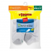 Hanes EZ-Sort Boys No-Show Socks 11-Pack