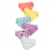 Hanes TAGLESS Toddler Girls' Pre-Shrunk Cotton Hipsters 6-Pack