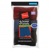 Hanes Boys ComfortSoft Dyed Boxer Briefs 3-Pack