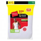 Hanes Men's TAGLESS ComfortSoft A-Shirt 7-Pack