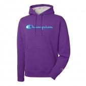 Champion Men's Powerblend Pullover Hoodie, Script Logo