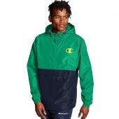 Colorblocked Packable Jacket, Pop Color Logo