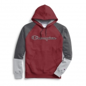Champion Men's Powerblend Colorblock Hoodie, Outline Logo