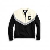 Champion Women's Heritage Sherpa Bomber Jacket, Block C Logo