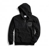 Champion Men's Heritage Sherpa Quarter Zip Hoodie, Felt Block C Logo