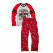 Hanes Boys Sleepwear 2-Piece Set, JV All-Star Print