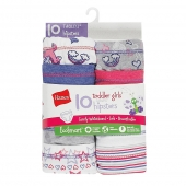 Hanes Toddler Girls' EcoSmart Hipsters 10-Pack