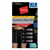Hanes Men's Comfort Flex Fit Breathable Mesh Boxer Briefs 4-Pack