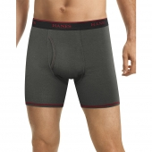 Hanes Men's FreshIQ Cool Comfort Breathable Mesh Boxer Brief 5-Pack