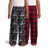 Hanes Boys Micro Fleece Sleep Pant 2-Pack