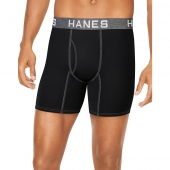 Hanes Ultimate Men's Comfort Flex Fit Ultra Soft Cotton/Modal Boxer Briefs Assorted 4-Pack