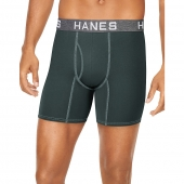 Hanes Ultimate Men's Comfort Flex Fit Ultra Soft Cotton/Modal Boxer Briefs 4-Pack