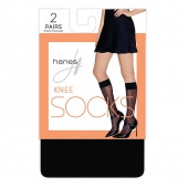 Hanes Knee High Socks, 2-pack