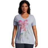 JMS Tropical Flower Short Sleeve Graphic Tee