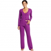 Maidenform Long Sleeve Knit PJ Set