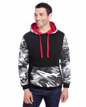 Men'S Fashion Camo Hooded Sweatshirt