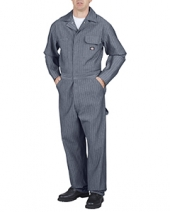 Unisex Tall Cotton Coverall Fisher Stripe