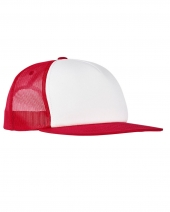 Foam Trucker With White Front Snapback