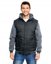 Adult Fleece Sleeved Puffer Vest