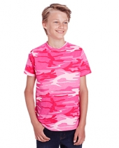 Youth Camo Ribbed Collar T-Shirt