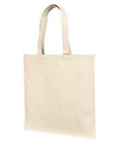12 Oz., Cotton Canvas Tote Bag With Self Fabric Handles