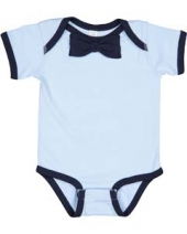 Infant Baby Rib Bow Tie Bodysuit