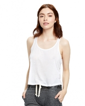 Ladies' Sheer Cropped Racer Tank