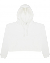Ladies' Girlie Cropped Hooded Fleece with Pocket