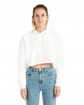 Ladies' Crop Hooded Sweatshirt
