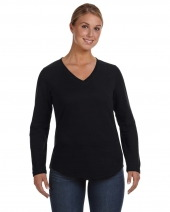 Ladies' V-Neck French Terry Pullover