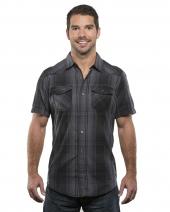 Men's Plaid Pattern Western Woven