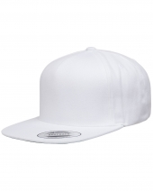 Adult 5-Panel Structured Flat Visor Classic Snapback Cap